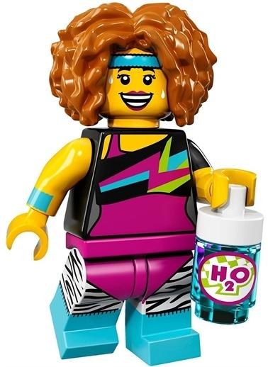 Lego Lego Minifigür - Seri 17 - 71018 - Dance Instructor Renkli
